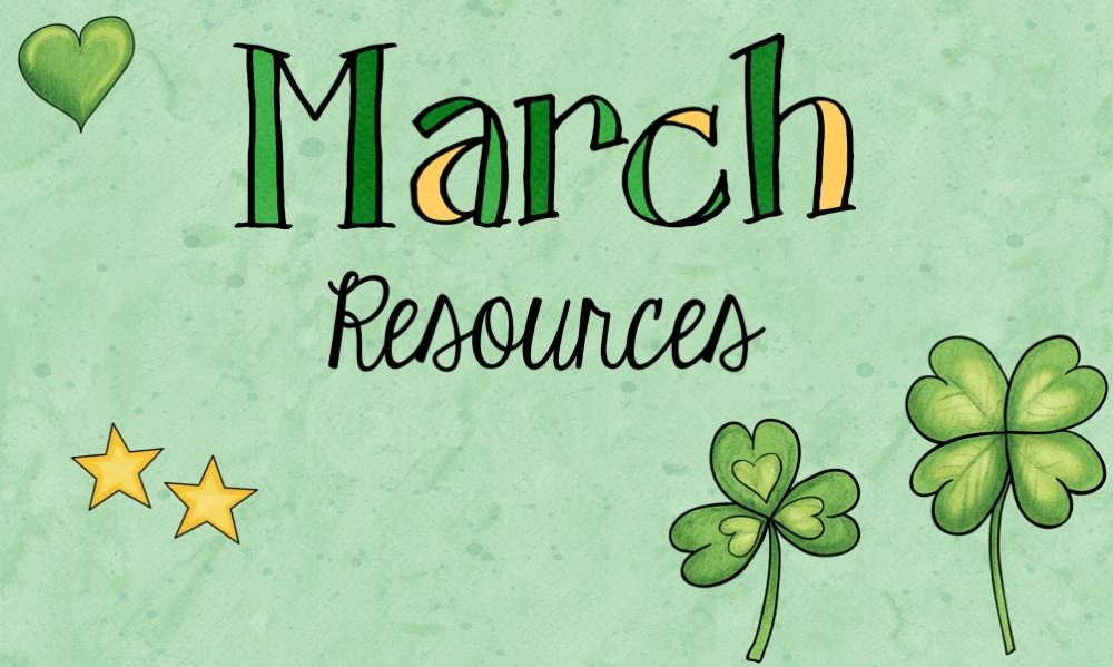 Agenda : Ressources pour le mois de mars