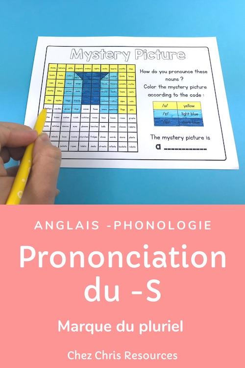 coloriage magique autour de la prononciation de la marque du pluriel en anglais