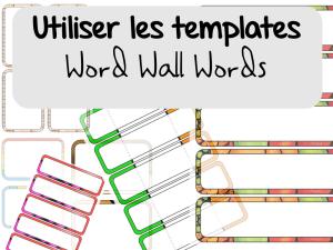 Word Wall Words : Utiliser les templates avec PowerPoint