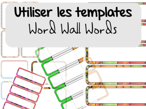 Word Wall Words : Utiliser les templates avec PowerPoint