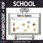 Kim's Game - School