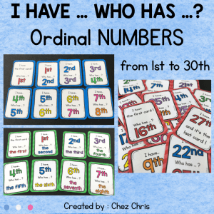 Ordinal Numbers from 1st to 30th
