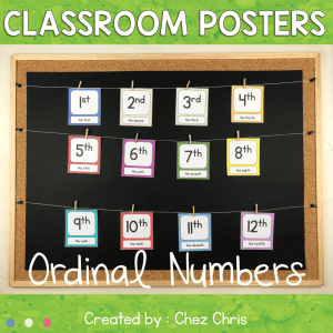 Posters : Ordinal numbers