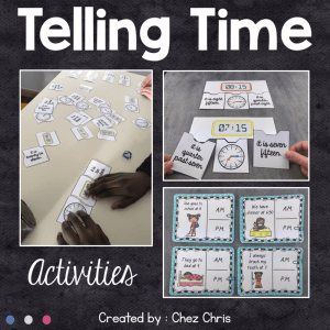 Telling Time – Activities and Games