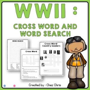 Image de couverture des jeux liés à l'étude de la seconde guerre mondiale en cours d'anglais au collège