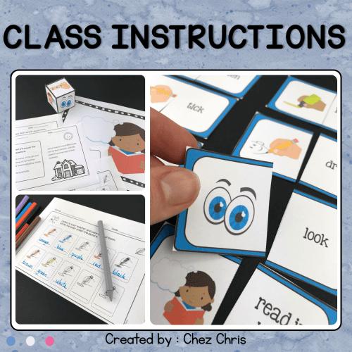 Les consignes de classe en anglais: activités
