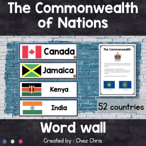 Word Wall : the Commonwealth