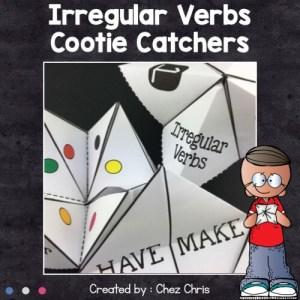 image de couverture des cocottes en papier sur les verbes irréguliers en anglais