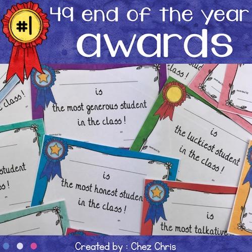 activité de fin d'année end of the year awards - diplômes pour les élèves