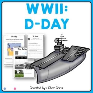 image de couverture de la ressource consacrée au débarquement pendant la seconde guerre mondiale
