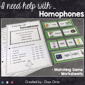 I need help with … Homophones – Activities