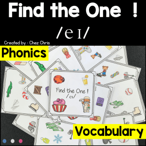 Find the one – The sound /ei/