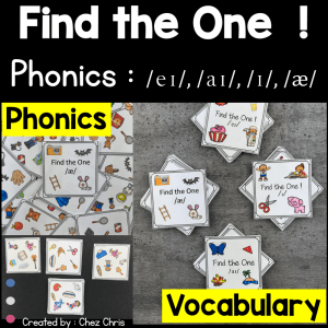 Find the one – Sounds /ai/ – /ei/ – /a/ – /i/