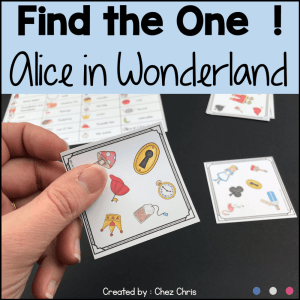 Alice in Wonderland – Find the one & flashcards