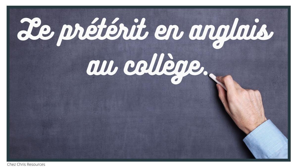 image d'illustration de l'article sur l'enseignement du prétérit en anglais au collège. écriture sur tableau noir.