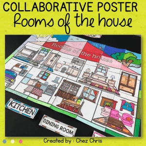 Rooms of the House Collaborative Poster