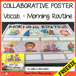 Morning Routine – a FREE Collaborative Vocabulary Poster