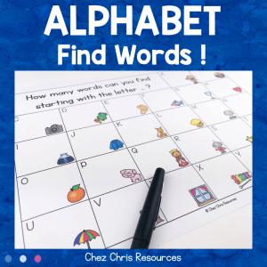 Find Words – Alphabet Activity