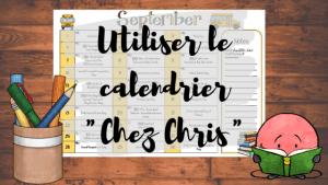 Utiliser le calendrier des événements en classe