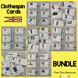 Clothespin Clip Cards Bundle