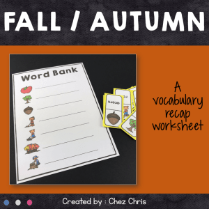 Dominoes : Fall / Autumn Vocabulary