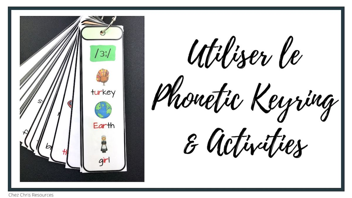 Utliser la ressource Phonetic keyring and activities en cours d'anglais