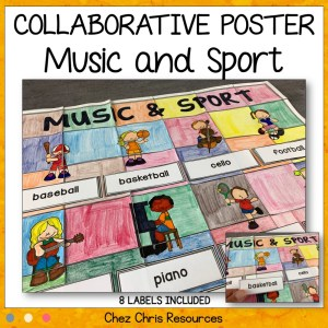 Music and Sport Vocabulary Collaborative Poster