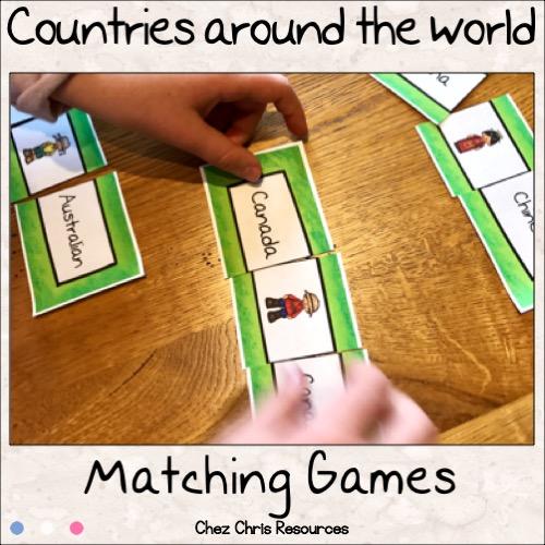 couverture jeu d'appariement géographie en anglais