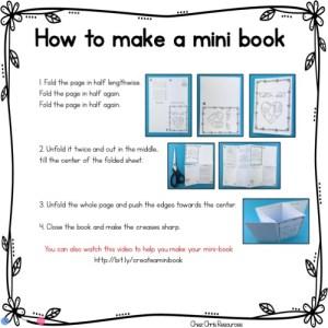 Instructions pour réaliser un mini livre