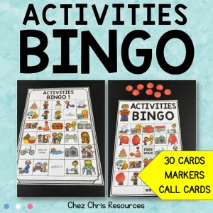 Activities and Hobbies Bingo Game