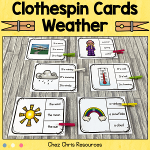 Weather Clothespin Clip Cards
