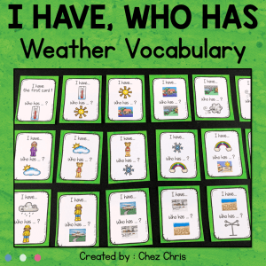 Weather Vocabulary – I Have Who Has Game