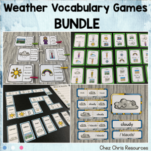 Weather Vocabulary – BUNDLE