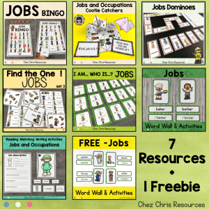 Jobs Vocabulary Games and Activities Bundle