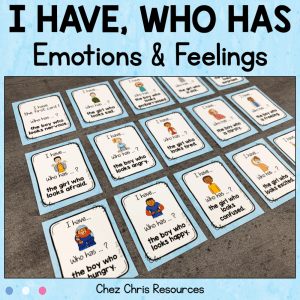 Emotions and Feelings – I have Who Has Game