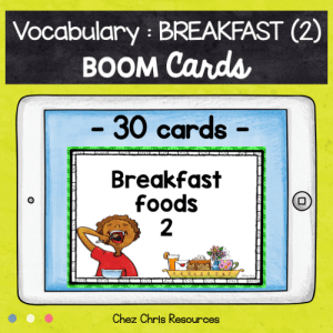 BOOM Cards : Breakfast Vocabulary (2)