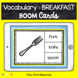 BOOM Cards : Breakfast Vocabulary (1)