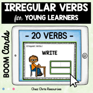 BOOM Cards : Irregular Verbs for Young Learners