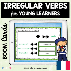 BOOM Cards : Irregular Verbs for Young Learners with French translation