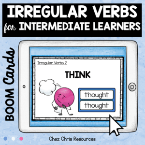 BOOM Cards : Irregular Verbs for Intermediate Learners