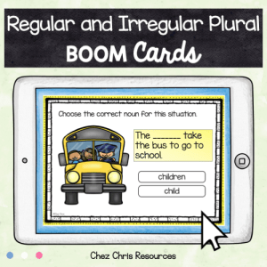 BOOM Cards : Regular and irregular plural nouns