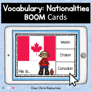 BOOM Cards : Nationalities and Flags Activity
