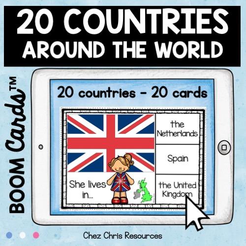 les pays en anglais avec les boom cards: 20 pays - 20 cartes dans ce deck - vignette 2
