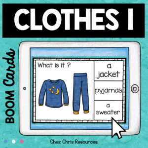 BOOM Cards : Clothes – Set 1