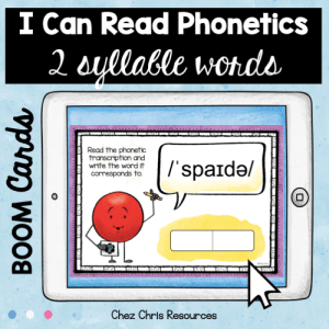 BOOM Cards : I can read phonetics ! 2 syllable words