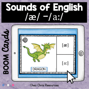 BOOM Cards : Pronunciation – [æ] or [a:] – Audio Included