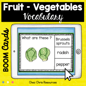 BOOM Cards : Fruit and Vegetables – Set 1