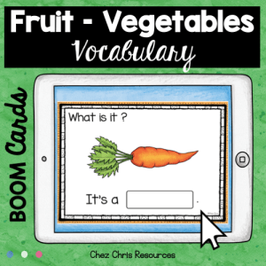 BOOM Cards : Fruit and Vegetables – Set 2