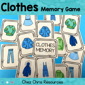Clothes Vocabulary Memory Game
