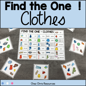 Clothes Vocabulary Game – Find the one!